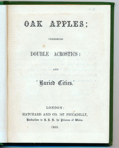 Oak Apples; Otherwise Double...
