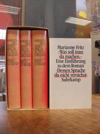 Dessen Sprache du nicht verstehst - Roman, 3 Bände (= alles), sowie 'Was soll man da machen - Eine Einführung', insg. 4 Bände, (signiert),