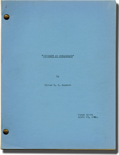Los Angeles: David O. Selznick, 1941. First Draft script for an unproduced film. A substantial Treat...