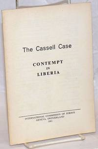 image of The Cassell case; contempt in Liberia