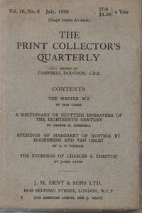 The Print Collector\'s Quarterly, July 1929, Volume 16, Number 3