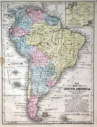 No 19. Map of South America.  No 20. Map of the Isthmus of Darien showing the route of the Railroad from Aspinwall to Panama