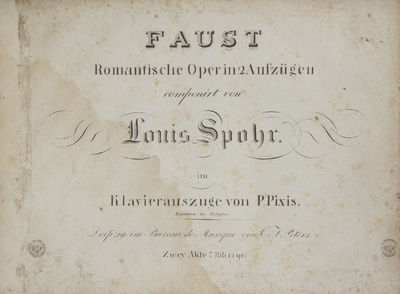 Leipzig: C.F. Peters , 1824. Oblong folio. Full contemporary dark green pebbled cloth with nitials