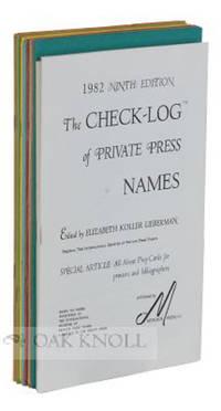 White Plains, NY: Herity Press, 1982. stiff paper wrappers. Private Press. small 8vo. stiff paper wr...