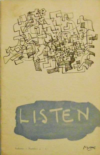 East Yorkshire: Listen, 1958. First Edition. Paperback. Very Good/No. Volume 2 Number 4 of this poet...