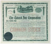 1904 Stock Certificate for The Tabard Inn Corporation [The Tabard Inn Library]