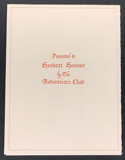 , 1954. 1st Printing. Textured off-white paper covers, printed in red, with black rule border. Now h...