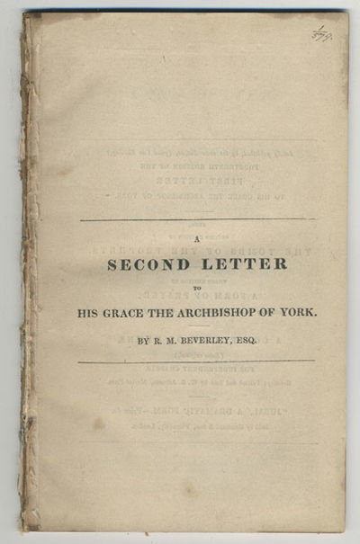 Beverly: W.B. Johnson, 1832. 8vo. f., 46 pp. As indicated by the quote on the title-page