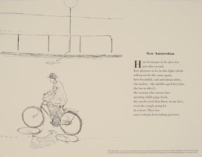 New York: Granary Books, 2001. First edition. Broadside that measures 13