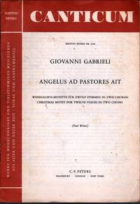 Angelus Ad Pastores Ait by  Giovanni Gabrieli  - Paperback  - Reprint  - 1967  - from citynightsbooks (SKU: 10983)