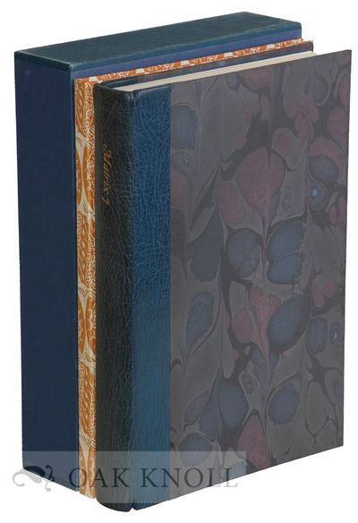 Manor Farm: Whittington Press, 1987. quarter bound in leather with pattern paper-covered sides. Whit...
