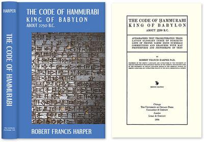 2010. ISBN-13: 9781584770039; ISBN-10: 1584770031. The Code of Hammurabi Harper, Robert Francis. The...
