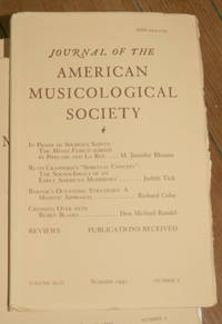 Journal of the American Musicological Society. Volume XLIV Summer 1991, Number 2