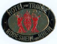 Hotel zur Traube Rudesheim am Rhein.  [LUGGAGE LABEL]