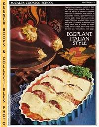 image of McCall's Cooking School Recipe Card: Vegetables 1 - Eggplant Parmigiana :  Replacement McCall's Recipage or Recipe Card For 3-Ring Binders : McCall's  Cooking School Cookbook Series