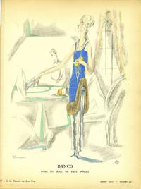 Banco, Robe du soir, de Paul Poiret; Print from the Gazette du Bon Ton