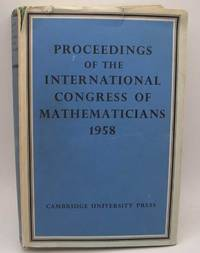 image of Proceedings of the International Congress of Mathematicians 14-21 August 1958