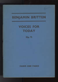 [Op. 75]. Voices for Today ... [Vocal score with organ accompaniment] Anthem for Chorus (Men, Women and Children)