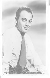 image of Fine vintage postcard photo signed (Herbert, 1917-2012, Czech Actor)