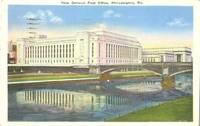 New General Post Office, Philadelphia, Pa 1935 used Postcard