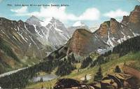 image of Lakes Agnes, Mirror, Louise and Laggan, Alberta, Canada on 1930s HHT Postcard