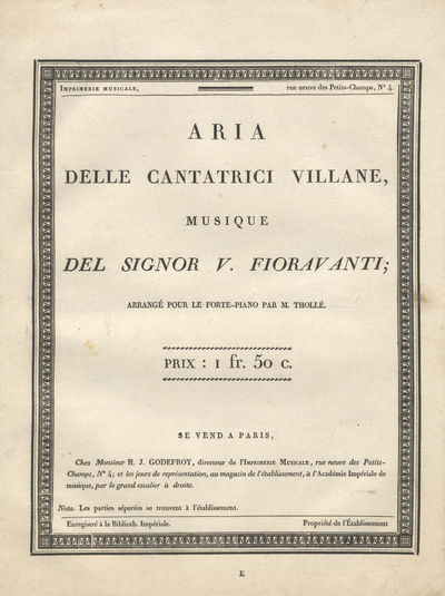 Paris: H. J. Godefroy , 1806. Folio. Disbound., 1f. (recto title within decorative border, verso bla...