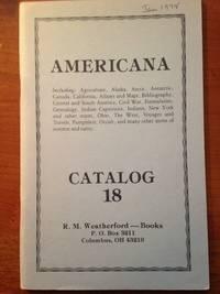 image of Americana.  R. W. Weatherford Catalog 18
