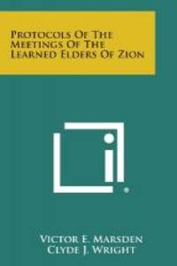 image of Protocols of the Meetings of the Learned Elders of Zion
