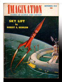 """SKY LIFT"" in IMAGINATION: Stories of Science and Fantasy, Nov. 1953, Vol. 4, No. 10."