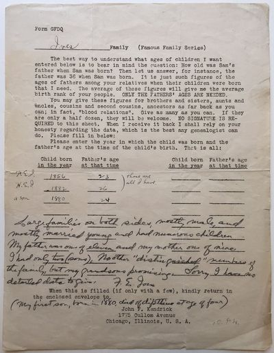 Chicago, 1925. unbound. Ives snubs his Nobel-nominated son Herbert!