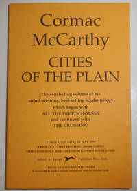 image of Cities of the Plain (Uncorrected Proof)