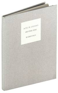Acis in Oxford and other poems