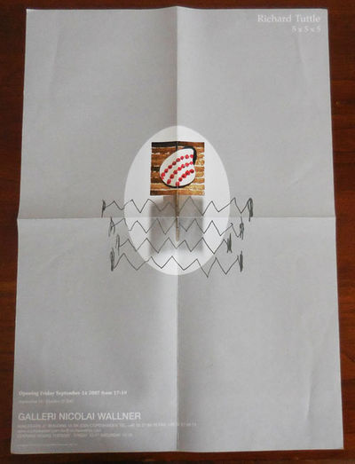 Copenhagen: Galleri Nicolai Wallner, 2007. First edition. Loose Sheets. Very Good. Tall single sheet...