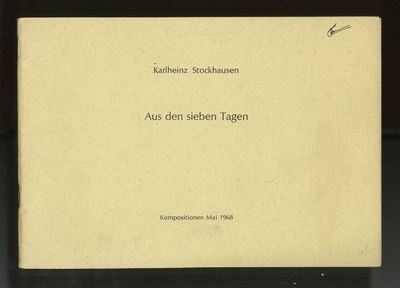 Wien: Universal Edition A.G. , 1968. Oblong octavo. Original publisher's dark ivory printed wrappers...