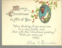 MERRY CHRISTMAS TO ALL OF YOU CARD WITH SNOWY TOWN
