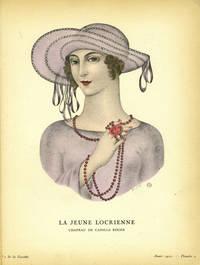 La Jeune Locrienne. Chapeau, de Camille Roger; Print from the Gazette du Bon Ton