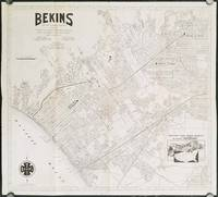 Bekins Van and Storage Company Map of Beverly Hills, Westwood, Santa Monica, West Los Angeles, West Hollywood and Culver City.  (Cover title: Map of Beverly Hills and Santa Monica.)