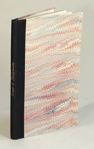 London: The Scholartis Press, 1927. First edition, limited to 525 numbered copies, 8vo, pp. viii, , ...
