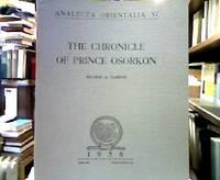 The Chronicle of Prince Osorkon. (= Analecta Orientalia, 37).