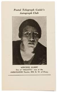 """(Two related handbills): Martin Jones Takes Pleasure in Presenting the Drama """"Mulatto"""" at the Ambassador Theatre"""