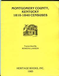 Montgomery County, Kentucky 1810-1840 Censuses
