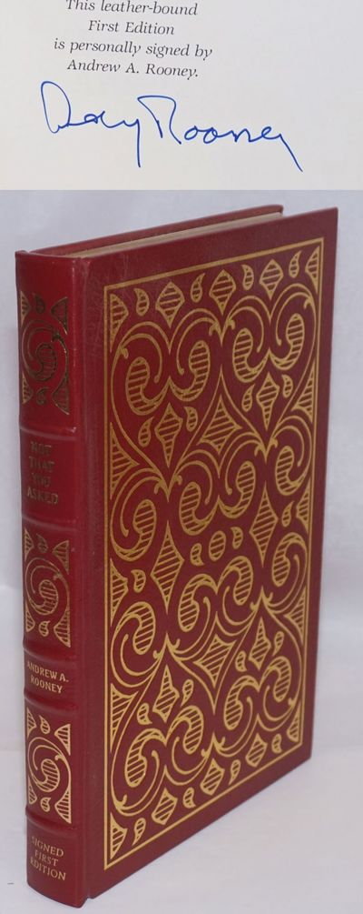 Norwalk: Easton Press, 1989. Leather Bound. xvi, 370p., preface, signed by the humorist/essayist, fi...