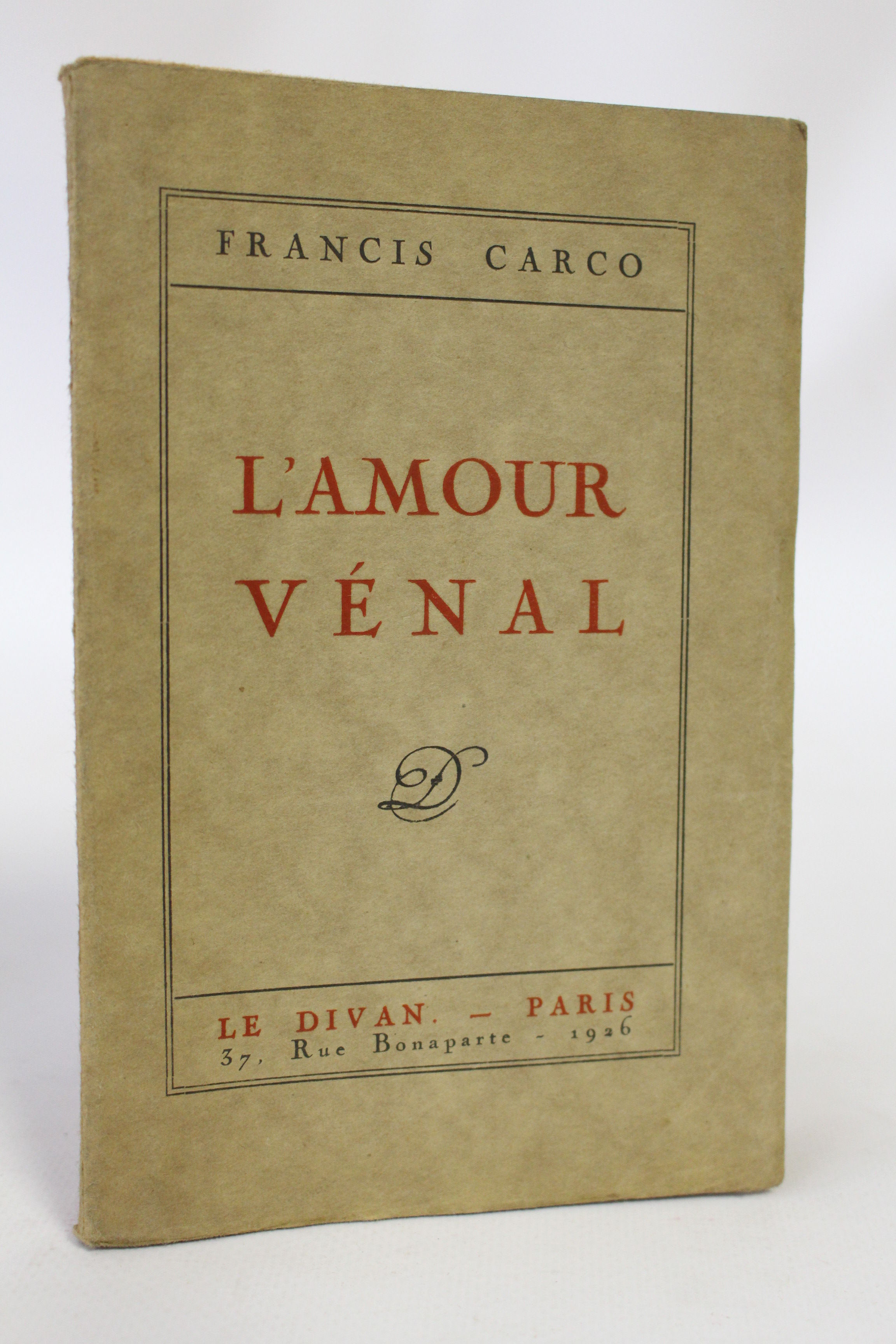 L 39 amour v nal edition originale grand papier by carco for Divan librairie