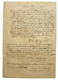 Signed Manuscript Confession: Three American Men Pilfer the Grave of Francisco Pizarro, 1848.