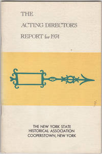 The Acting Director's Report for 1974