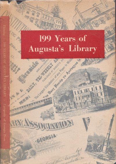 Athens: University of Georgia Press, 1949. First Edition. Hardcover. Very good/good +. Octavo. xiv, ...