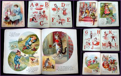 New York: McLoughlin Brothers, 1891. An ABC and nursery combination book that alters between the alp...