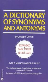 image of Dictionary of Synonyms and Antonyms