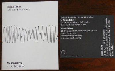 London: Martos Gallery, 2008. First edition. Paperback. Fine. Stapled illustrated wrappers. 8 pp. Al...