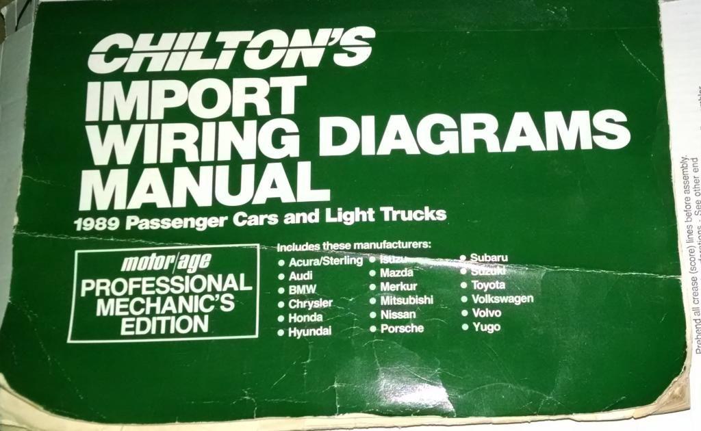 chilton 39 s import wiring diagrams manual 1989 passenger. Black Bedroom Furniture Sets. Home Design Ideas